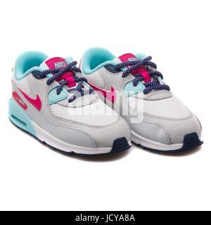 best website 90686 54df1 ... Nike Air Max 90 Mesh (TD) weiß, grau, Pink und Türkis Kleinkind