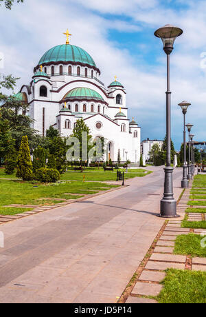 kathedrale des heiligen sava auf vracar plateau in belgrad serbien stockfoto bild 47841670. Black Bedroom Furniture Sets. Home Design Ideas