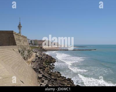 Promenade, Cádiz, Andalusien, Spanien - Stockfoto