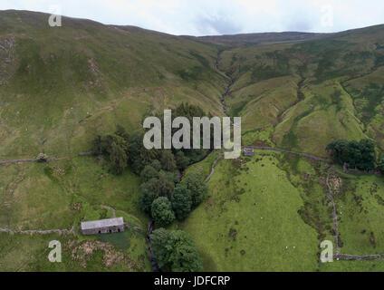 Lowthwaitehead Antenne panorama - Stockfoto