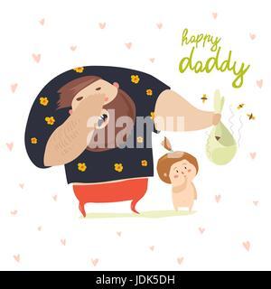Papa wechselnden Windel baby - Stockfoto