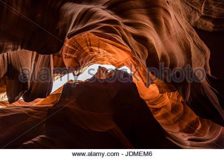 Der Horseshoe Bend Slotcanyon in Page, Arizona. - Stockfoto