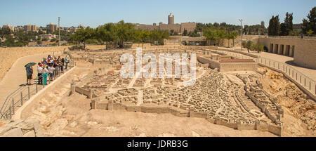 Outdoor-Modell von Jerusalem in der Zeit des zweiten Tempels zeigt die Topografie und Architektur des alten Jerusalem, - Stockfoto