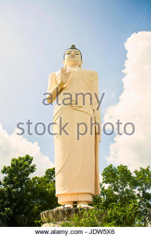 Buddha im Tempel auf Basis von Sigiriya (Lion Rock) Rock Fortress, Sri Lanka - Stockfoto