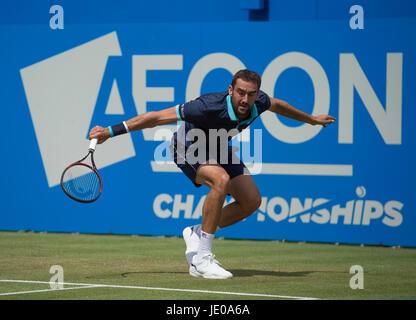 Die Queen's-Club, London, UK. 22. Juni 2017. Tag 4 des 2017 Aegon Tennis Championships in West London, Nummer 4 - Stockfoto
