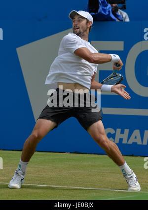 Aegon Tennis Championships Queens Club London, UK. 22. Juni 2017. Jordan Thmpson AUS Vs Sam Querrey USA Thompson - Stockfoto