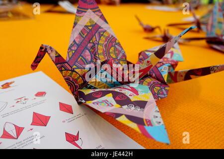 Origami-Kranich - Stockfoto