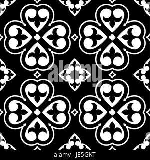 Spanische Fliesen Muster, marokkanische oder portugiesische Fliesen nahtloses design - Stockfoto