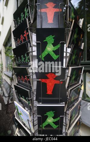 Postkarten, Verkehr leicht Männlein, Berlin, Deutschland, - Stockfoto