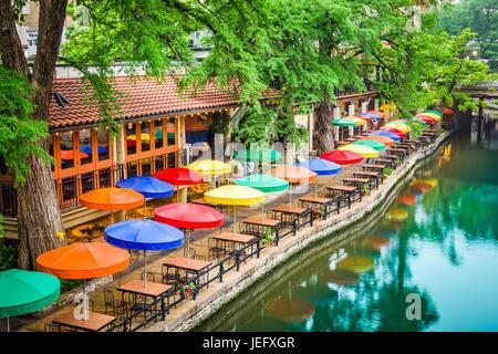 San Antonio, Texas, USA Stadtbild am River Walk. - Stockfoto