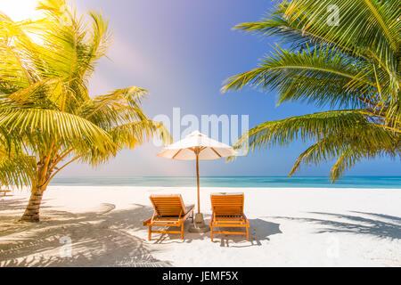 Schöner Strand Landschaft. Sommer-Urlaub und Ferien-Konzept. Inspirierende tropischen Strand. Strand Hintergrund - Stockfoto