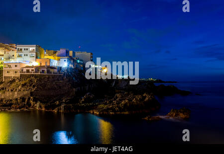 Dunkle Nacht Puerto de Santiago - Stockfoto