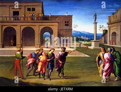 Joseph wird 1515 Francesco Granacci 1469 –1543 italienischer Maler der Renaissance ins Gefängnis gebracht. Villamagna - Stockfoto