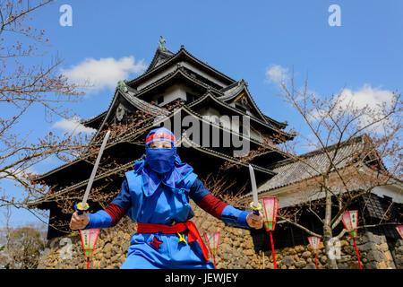 Ninja auf der Burg Matsue - Stockfoto