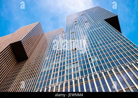 Moderne zeitgenössische Architektur, De Rotterdam vertikale Stadt, Rotterdam, Niederlande.