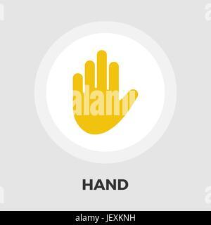 Hand-Symbol Vektor. Flach-Symbol auf dem weißen Hintergrund isoliert. Editierbare EPS-Datei. Vektor-Illustration. - Stockfoto