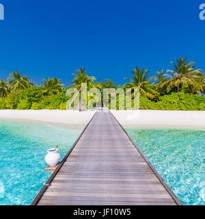luxus sommer und urlaub konzept hintergrund. sommer strand natur und tropischen insel banner