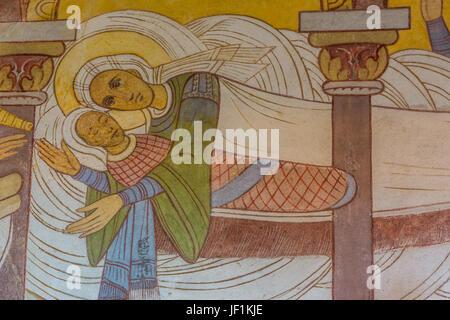fresko von jesus christus in die romanische kirche san. Black Bedroom Furniture Sets. Home Design Ideas