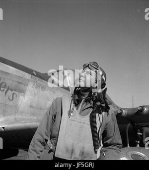 Die Tuskegee Airmen ist der populäre Name für eine Gruppe von african-american military Piloten, die im Zweiten - Stockfoto