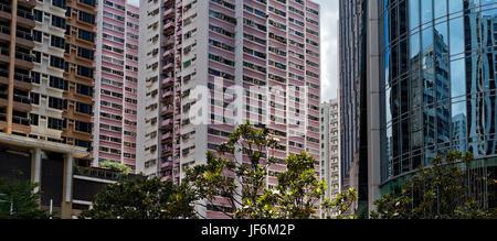 Die überfüllten Unterbringung von Hong Kong - Stockfoto