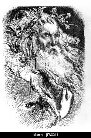 König Lear, spielen William Shakespeare (1564-1616). Illustration von John Gilbert (1817-1897). - Stockfoto