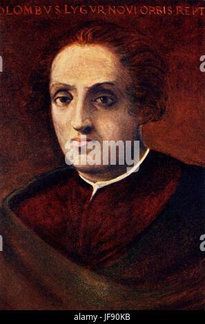 Christopher Columbus (1451-1506), italienischer Explorer, Navigator, Kolonisator und Bürger der Republik von Genua. - Stockfoto