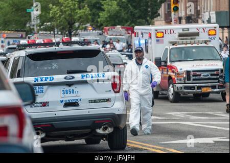 Tödliche schießen in der Bronx Libanon Krankenhaus - Stockfoto