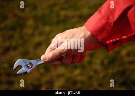 Hand-Schraubenschlüssel - Stockfoto