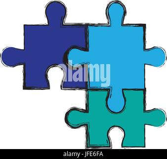 Puzzle Puzzle Stücke Strategie business - Stockfoto