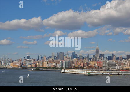 Blick auf Manhattan in New York - Stockfoto