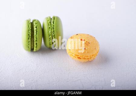 Französische Macarons Mandelgebäck - Stockfoto