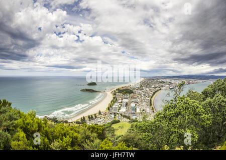 Bucht von viel Blick vom Mount Maunganui - Stockfoto