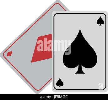 Spielkarten Pik Diamanten-Symbol Bild Vektor Illustration-design - Stockfoto