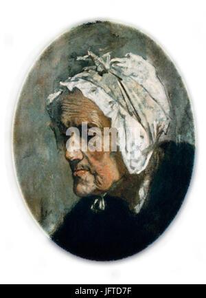 Édouard Manet - Tơ3AAte de Vieille Femme - Stockfoto