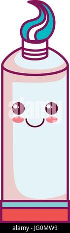 Zahnpasta zahnärztliche Kawaii Charakter - Stockfoto