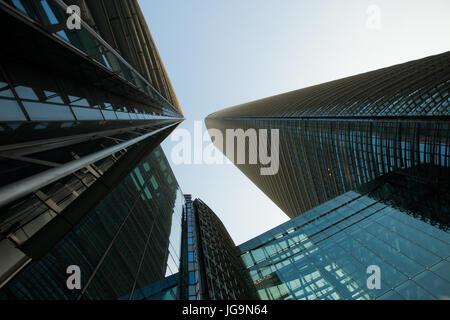 Große Firmen und Bürogebäude und Wolkenkratzer; Shenzhen, Guangdong Provinz, Volksrepublik China; - Stockfoto