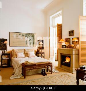 Schlafzimmer Innenraum; Orientalischen Stil Schlafzimmer   Stockfoto