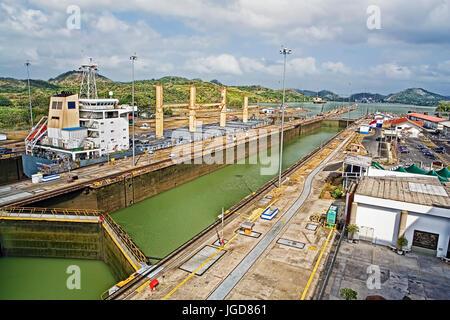 Der Miraflores-Schleuse in den Panama-Kanal - Stockfoto