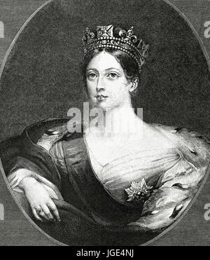 Königin Victoria (1819-1901). Königin der Berichtswoche von Großbritannien und Irland sowie Kaiserin von Indien. - Stockfoto