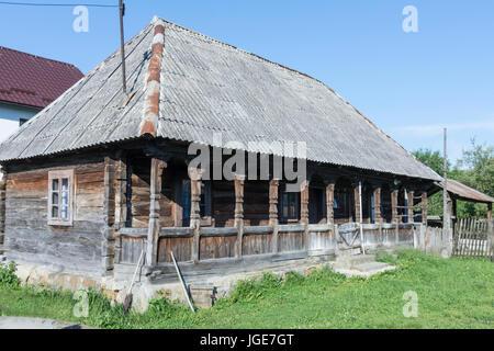 Die traditionellen Holzbauten in das Kloster von botiza in der Region Maramures - Stockfoto