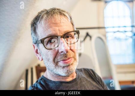 London UK. 22. Juni 2017. Komiker und Schriftsteller Ian Stone in The Red Imp Comedy Club @ The Rose und Krone Pub - Stockfoto