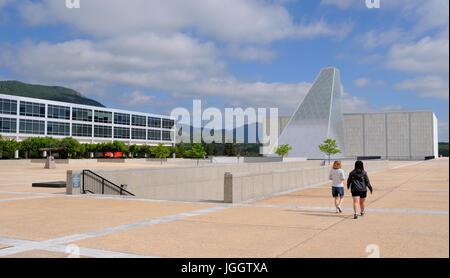 Zentrum für Charakter & Führungskräfteentwicklung, United States Air Force Academy, Colorado Springs, Colorado, - Stockfoto