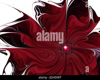 dunkle rote Blume Abstrakt - Stockfoto