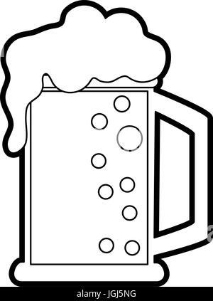 Bier-Glas-Vektor-illustration - Stockfoto