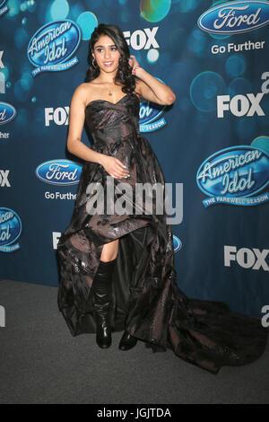 West Hollywood, CA, USA. 26. Februar 2016. LOS ANGELES - 25 FEB: Sonika Vaid bei der DSDS Staffel Finalisten Abschiedsparty - Stockfoto