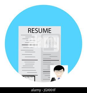 Human Resources (HR) Management app-Konzept auf einem Handy ...
