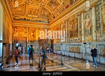 Die paolina Zimmer (Benannt nach Papst Paul III.) in Castel Sant'Angelo, Rom, Italien - Stockfoto