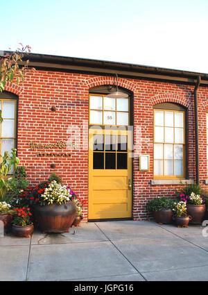 Eintritt ins Restaurant Whitehouse-Crawford, Walla Walla, WA. USA - Stockfoto