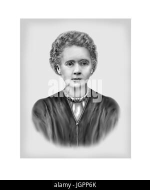 Marie Curie, 1867-1934, Polnisch geboren Französisch Physiker, Chemiker - Stockfoto