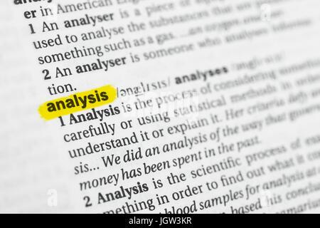 Markierten Englische Wort Analyse Und Seine Definition Im